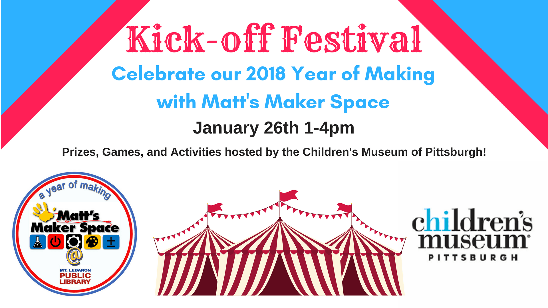 Maker Space Kickoff banner