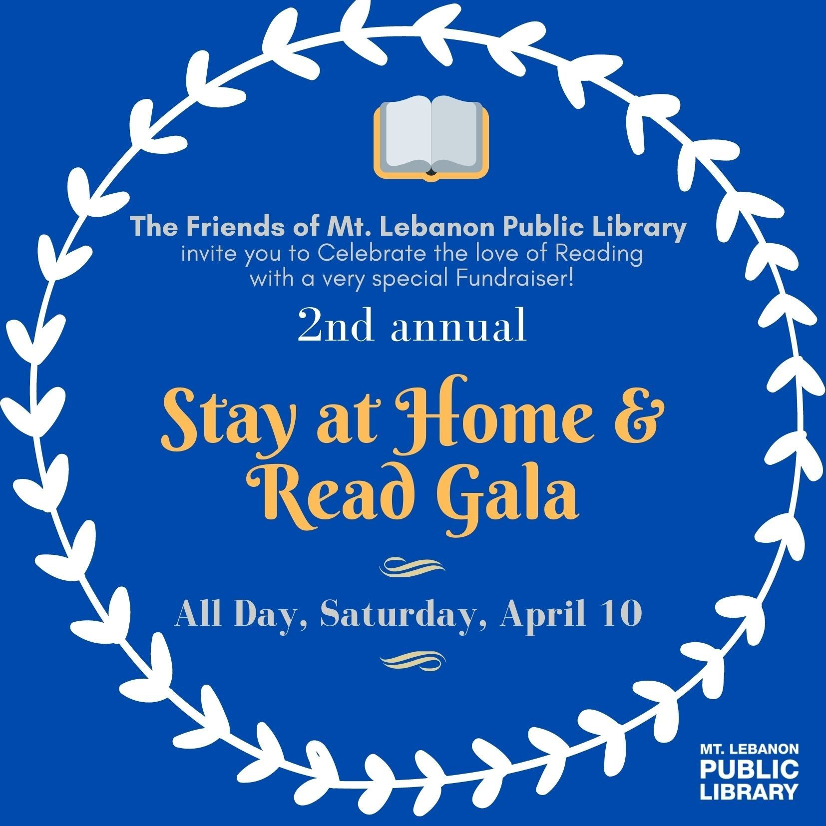 Stay at home and read gala 2021 banner